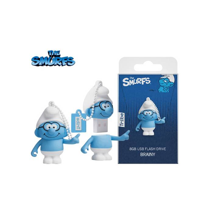 Usb Flash Drive Tribe 3d Brainy Smurf 8GB