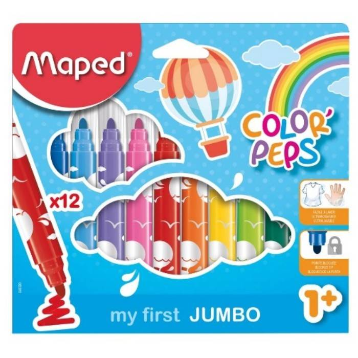 Μαρκαδόροι Maped Color Peps my first Jumbo 12 τεμ