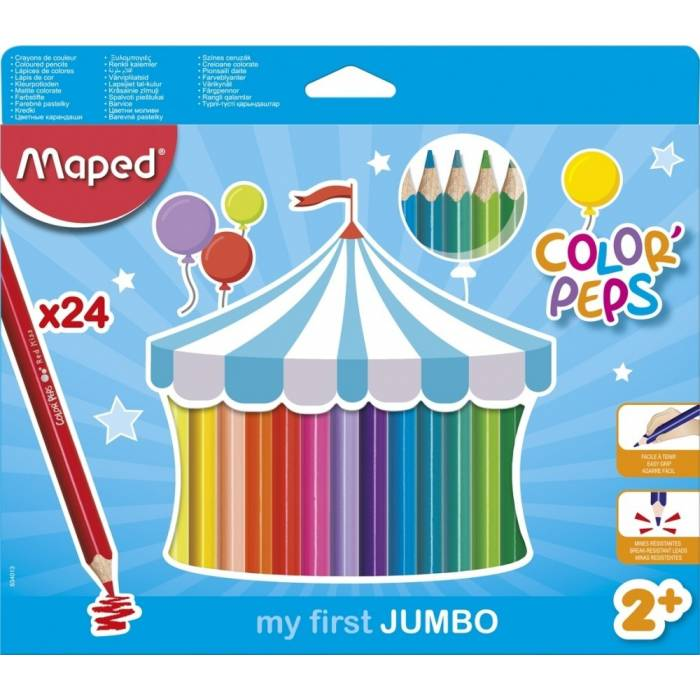 Ξυλομπογιές Maped Color Peps My first jumbo 24 τεμ