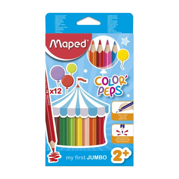 Ξυλομπογιές Maped Color Peps My first jumbo 12 τεμ