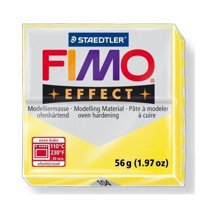 Πηλός Staedtler Fimo Effect Translucent Yellow 57gr