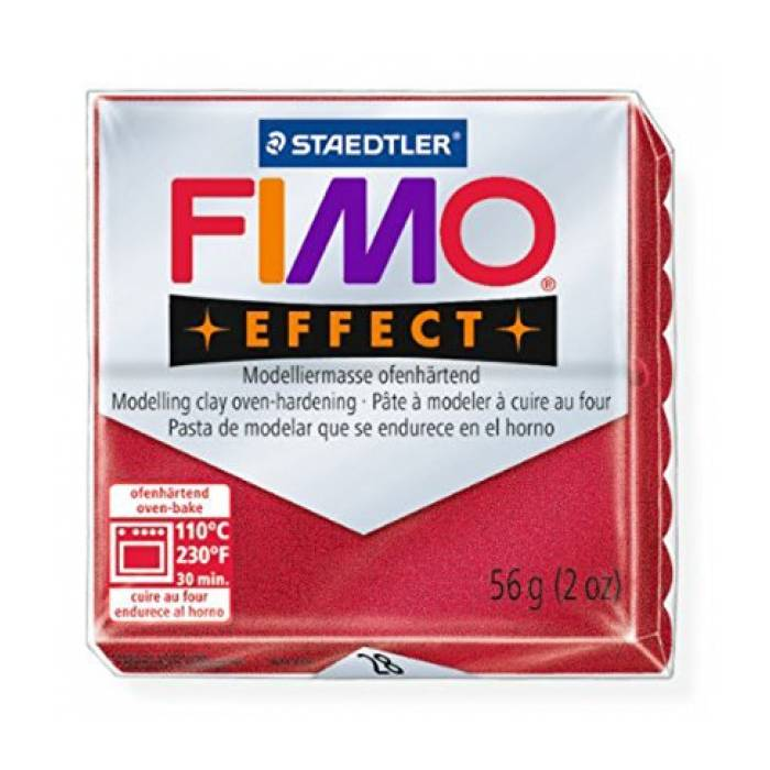 Πηλός Staedtler Fimo Effect Ruby Red Metallic 57gr