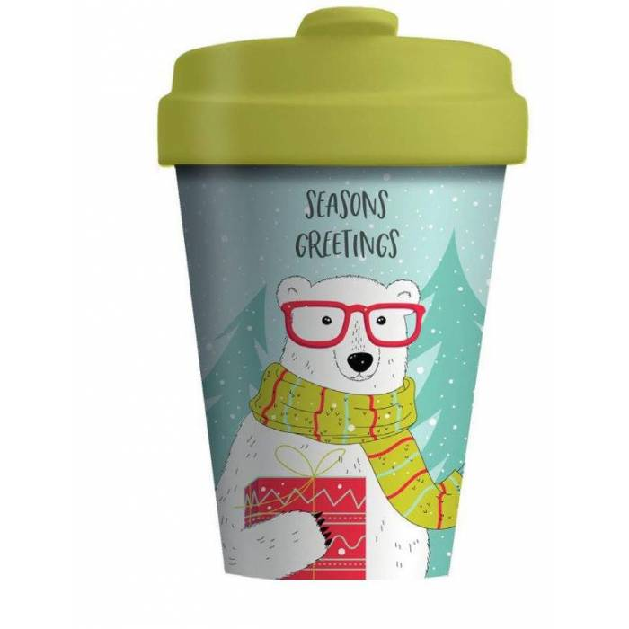 Kούπα BambooCup Limited Xmas Edition Hipster Polar Bear