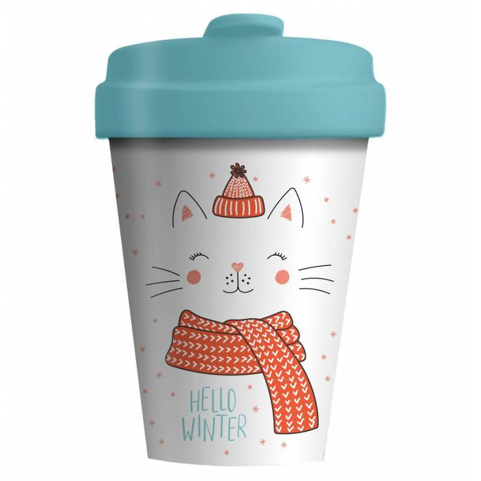 Κούπα BambooCup Limited Xmas Edition Winter Kitty