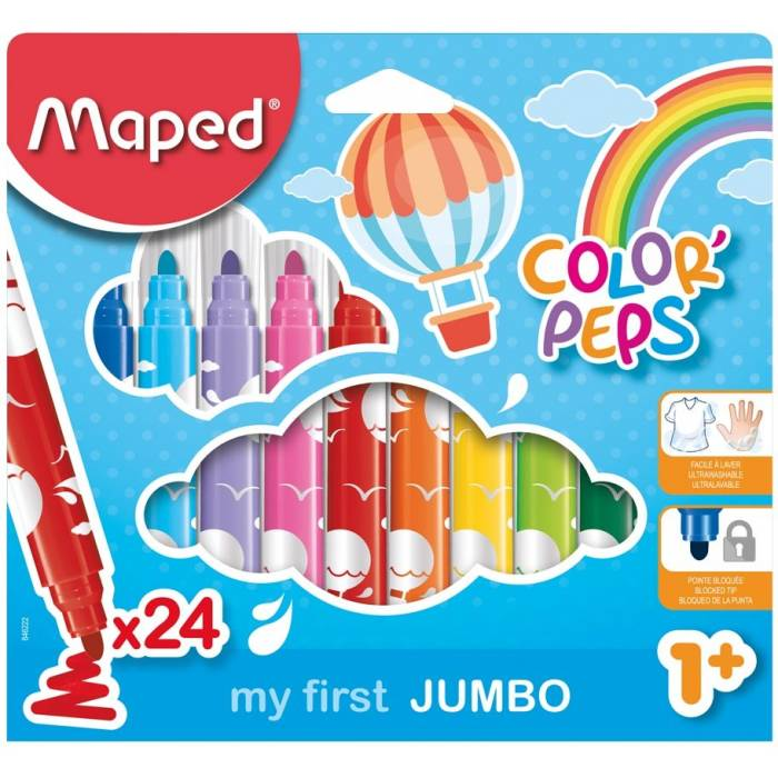 Μαρκαδόροι Maped Color Peps my first Jumbo 24 τεμ.